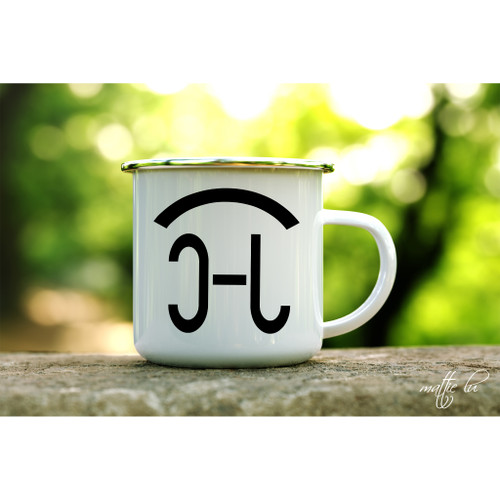 Cattle Brand Enamel Coffee Mug