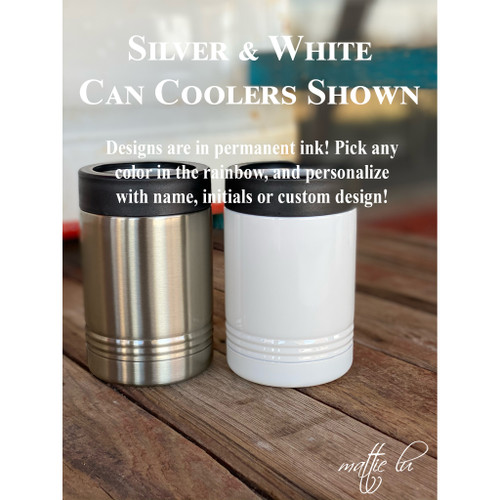 Insulated Stainless Steel Can Coolers Ranch Gift