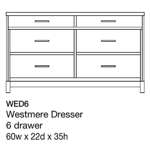 """Westmere 60"""" Dresser"""