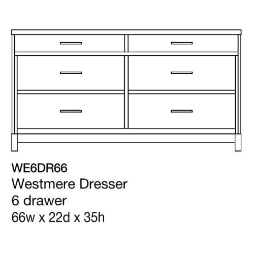 """Westmere 66"""" Dresser"""