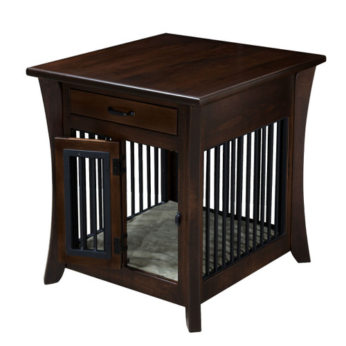 Caledonia Pet End Table with Aluminum Slats on all 4 Sides
