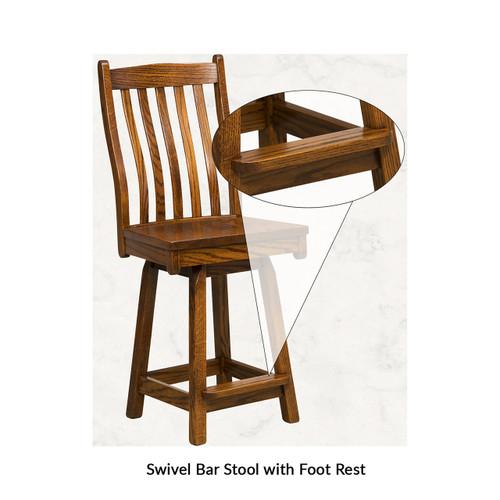 Boulder Creek Swivel Bar Stool