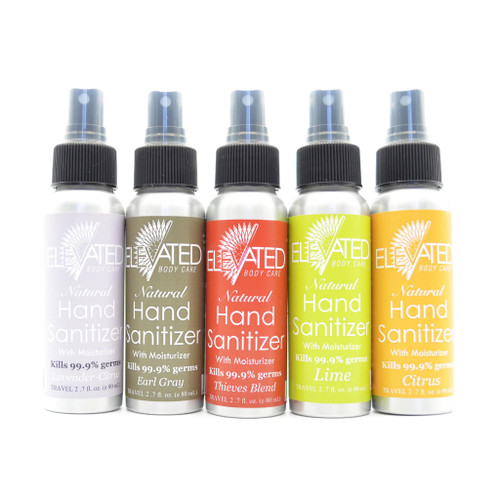 ELEVATED – Natural Hand Sanitizer w/ moisturizer- Dented Container