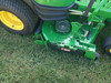 "Customer supplied photo of turf striper installed on 2012 John Deere 930A with 60"" 7 Iron mulch on demand deck."