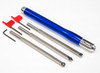 Mid Size Package of 3 Carbide Simple Woodturning Tools with Colored Handle