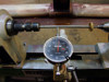 Run out gauge for woodturning lathe.