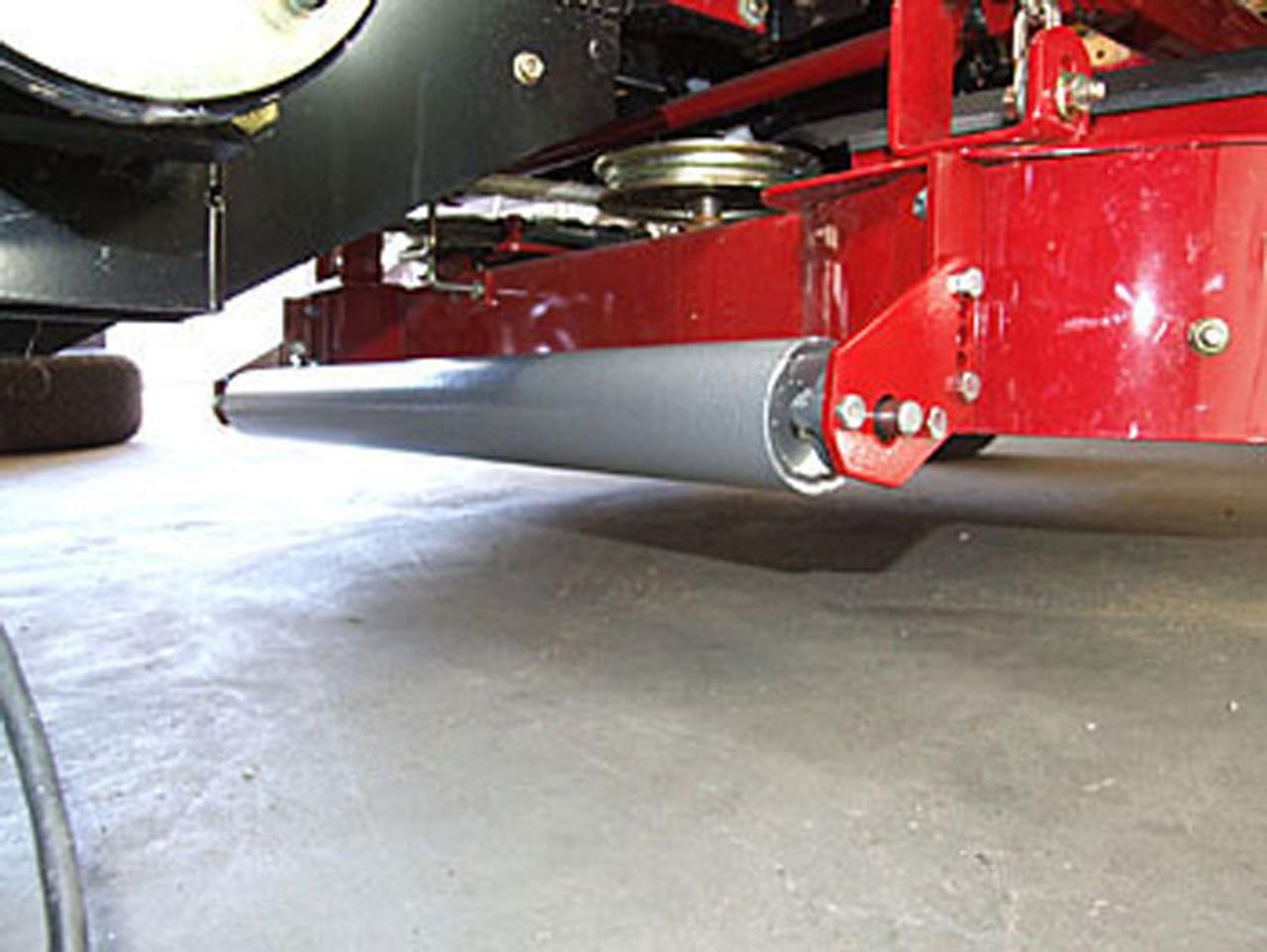 Installed lawn striper on Toro 400 series Estate zero turn mower.