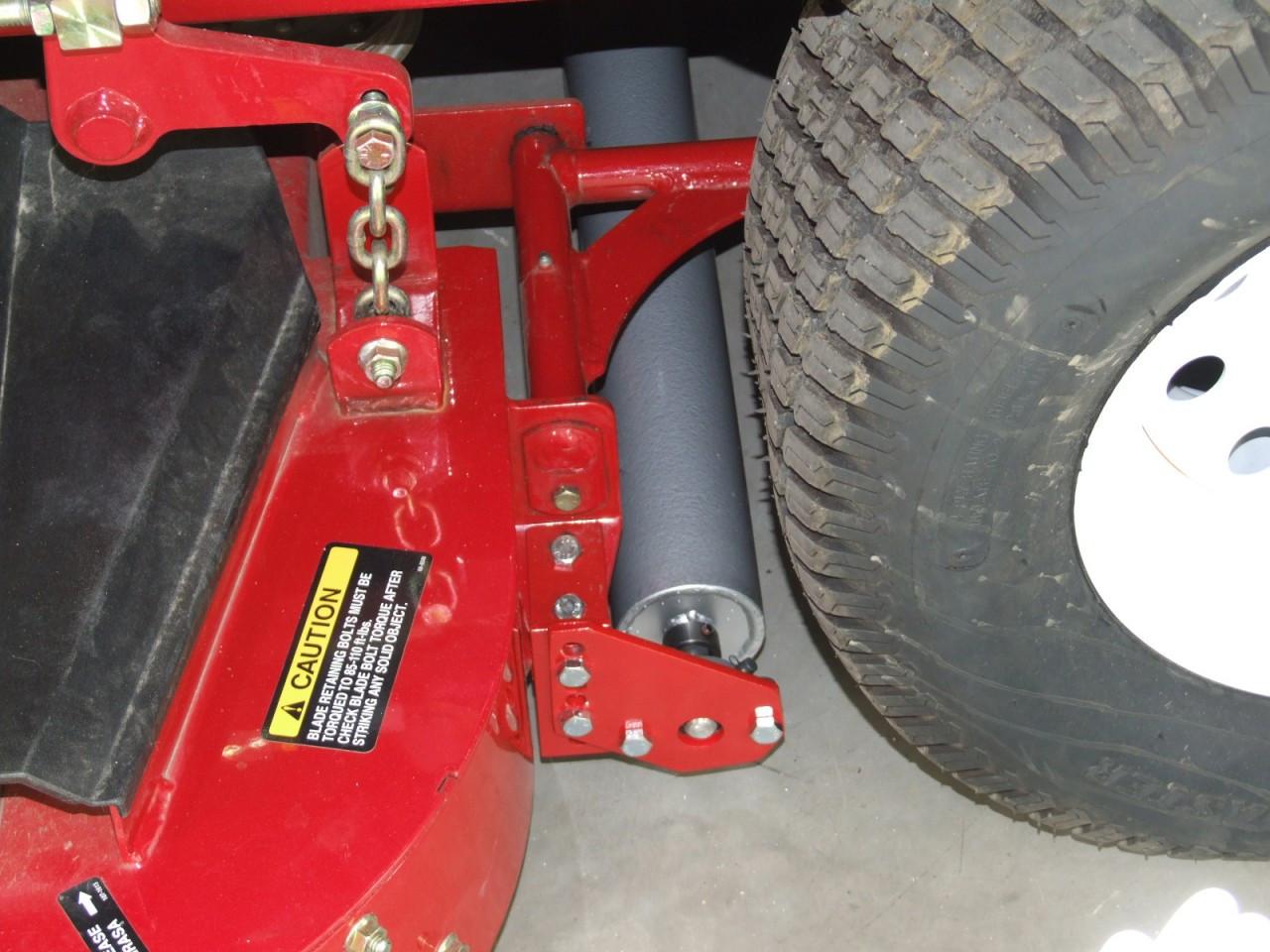 Installed lawn striper kit on Toro 400 Series Commercial mower.