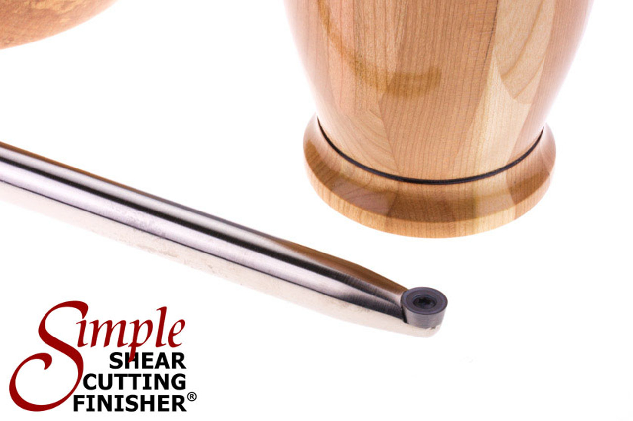 Simple Shear Cutting Finisher with Golf Grip handle and round carbide cutter.