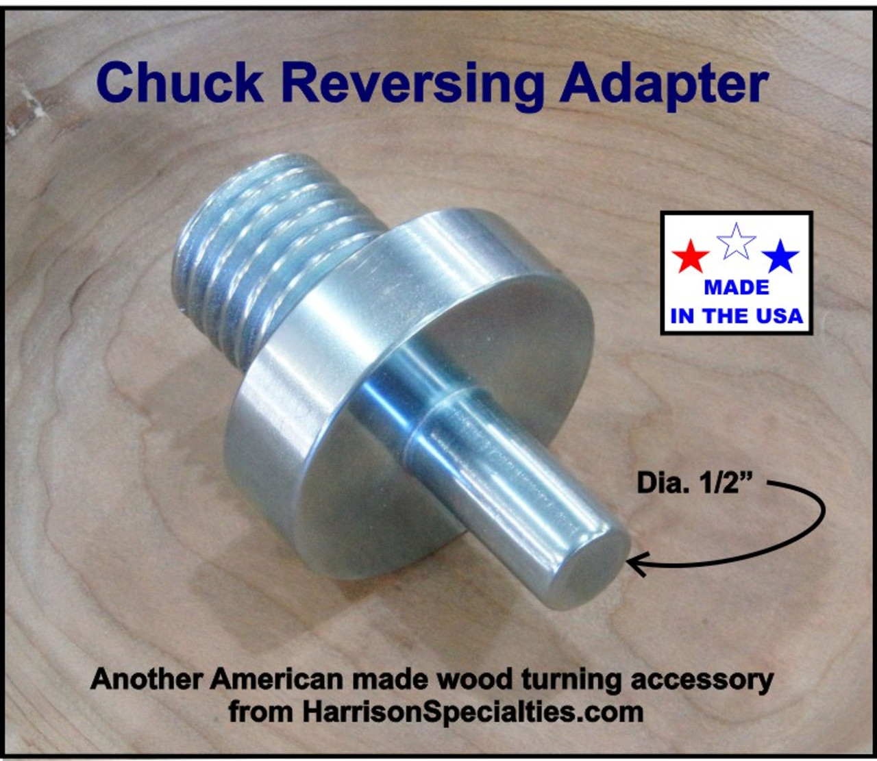 Chuck Reversing Adapter for wood turning lathe