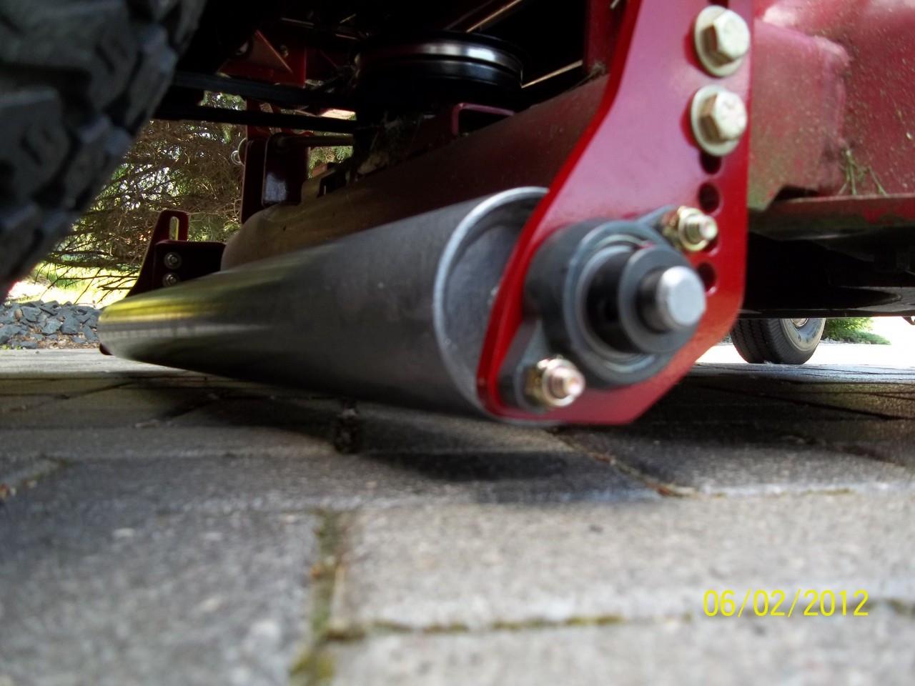 "Installed lawn striper on Toro Timecutter 44"" deck."