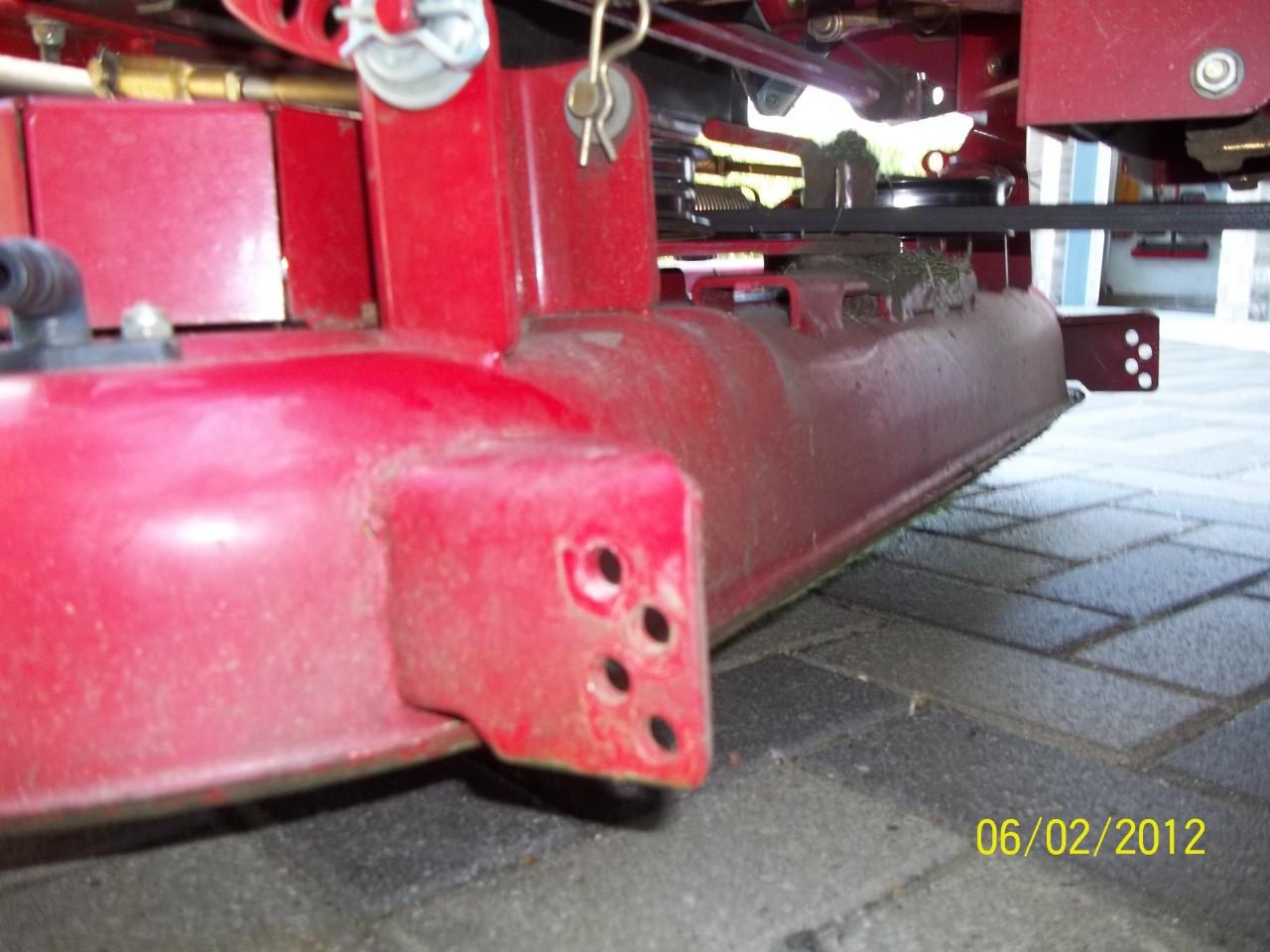 Toro Timecutter deck prior to lawn striper installation.