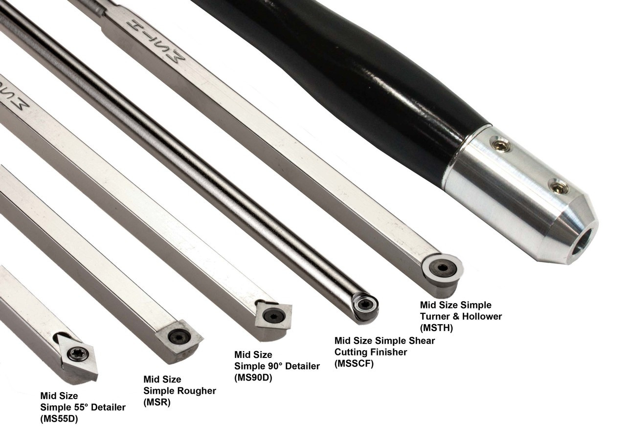 Carbide Turning tools feature replaceable tips, which have multiple sharp edges.