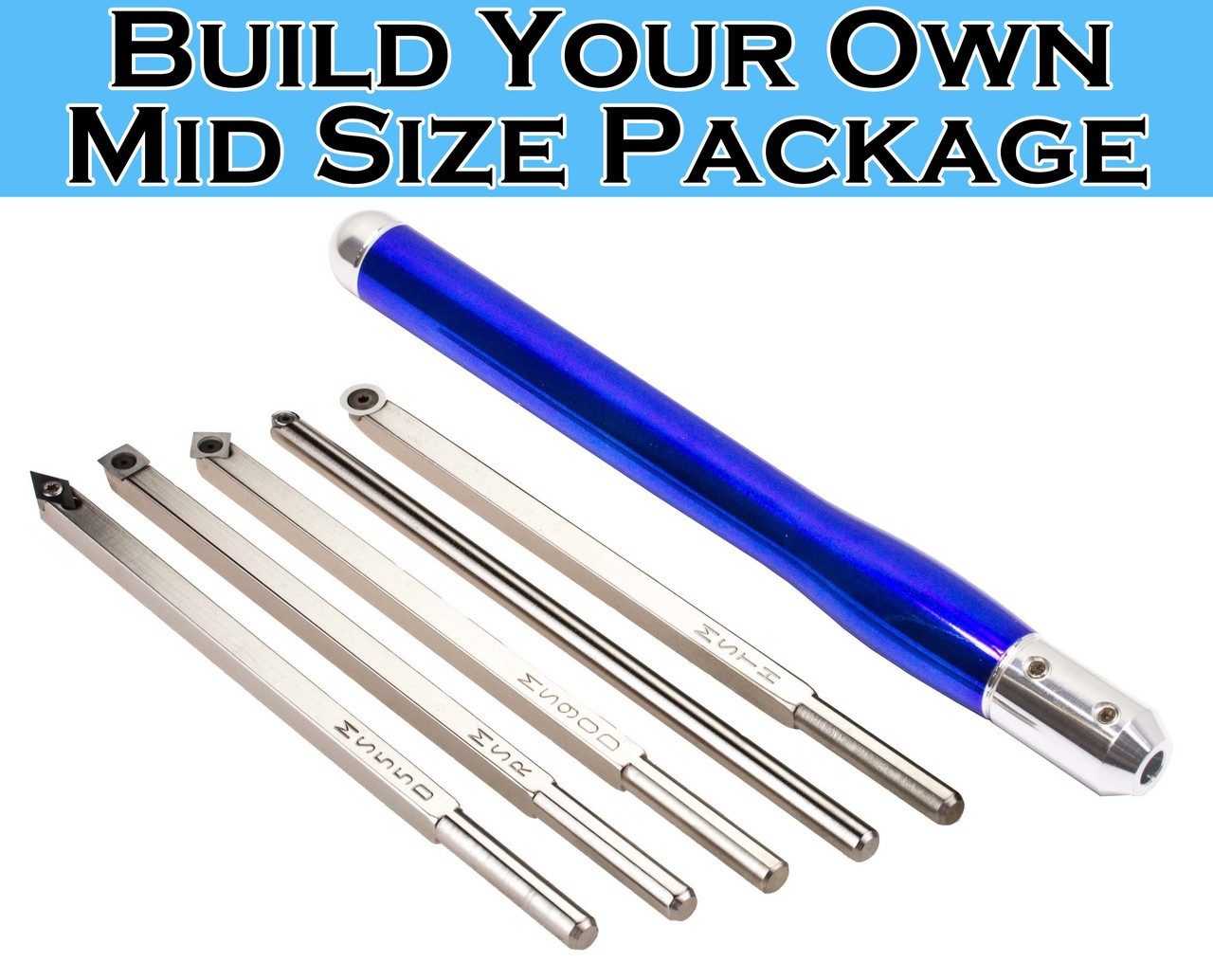 Build your own package of Mid Size Carbide Simple Woodturning Tools