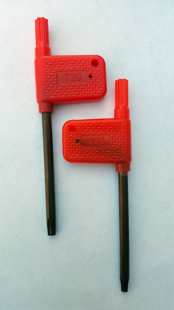 T15 & T20 Torx Wrench 2 Pack