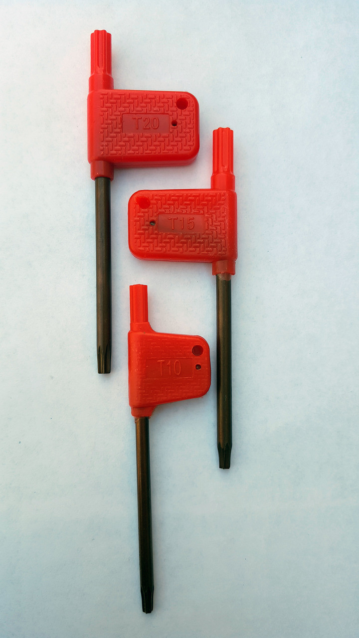 T10, T15 & T20 Torx Wrench 3 Pack