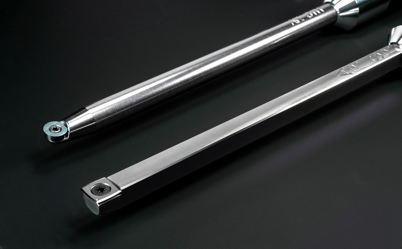 """Acrylic/Resin Set of 2 Carbide Turning Tools - Full-Size (12"""" Tools with 17"""" Handles)"""