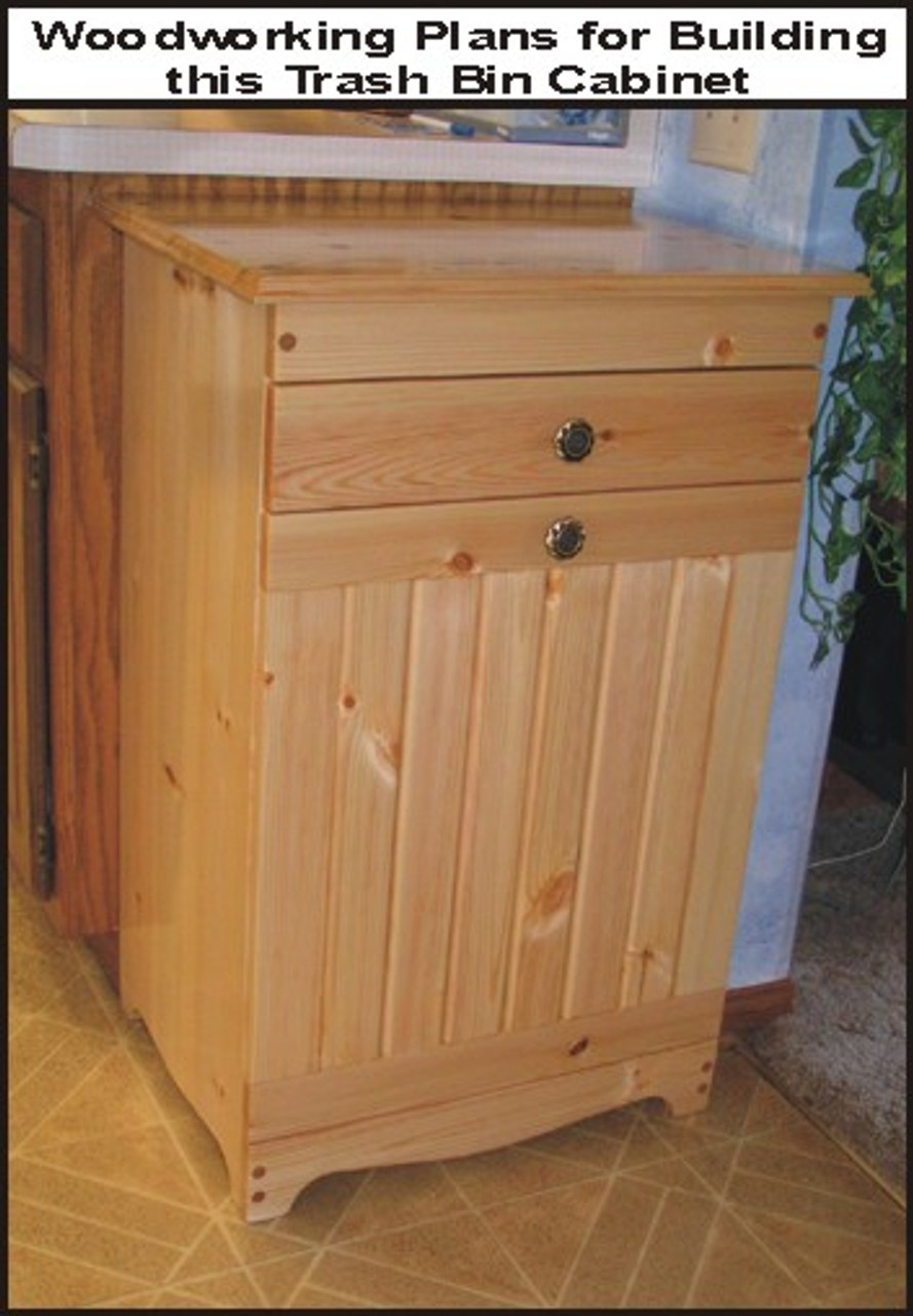 TRASH BIN CABINET PLAN - Woodworking plans wood shop