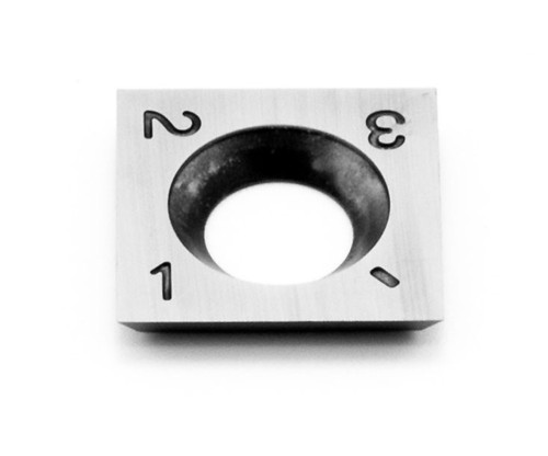90° square replacement cutter for Simple Rougher. Cutter features square corners and sides.