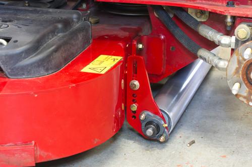 Lawn striper bolted to Toro Grandstand.