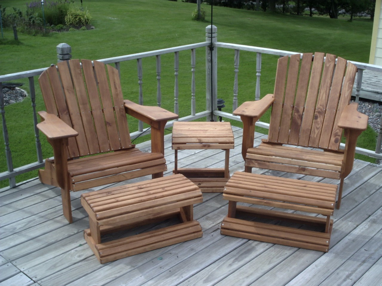 Adirondack Chair Ottoman Woodworking Plans