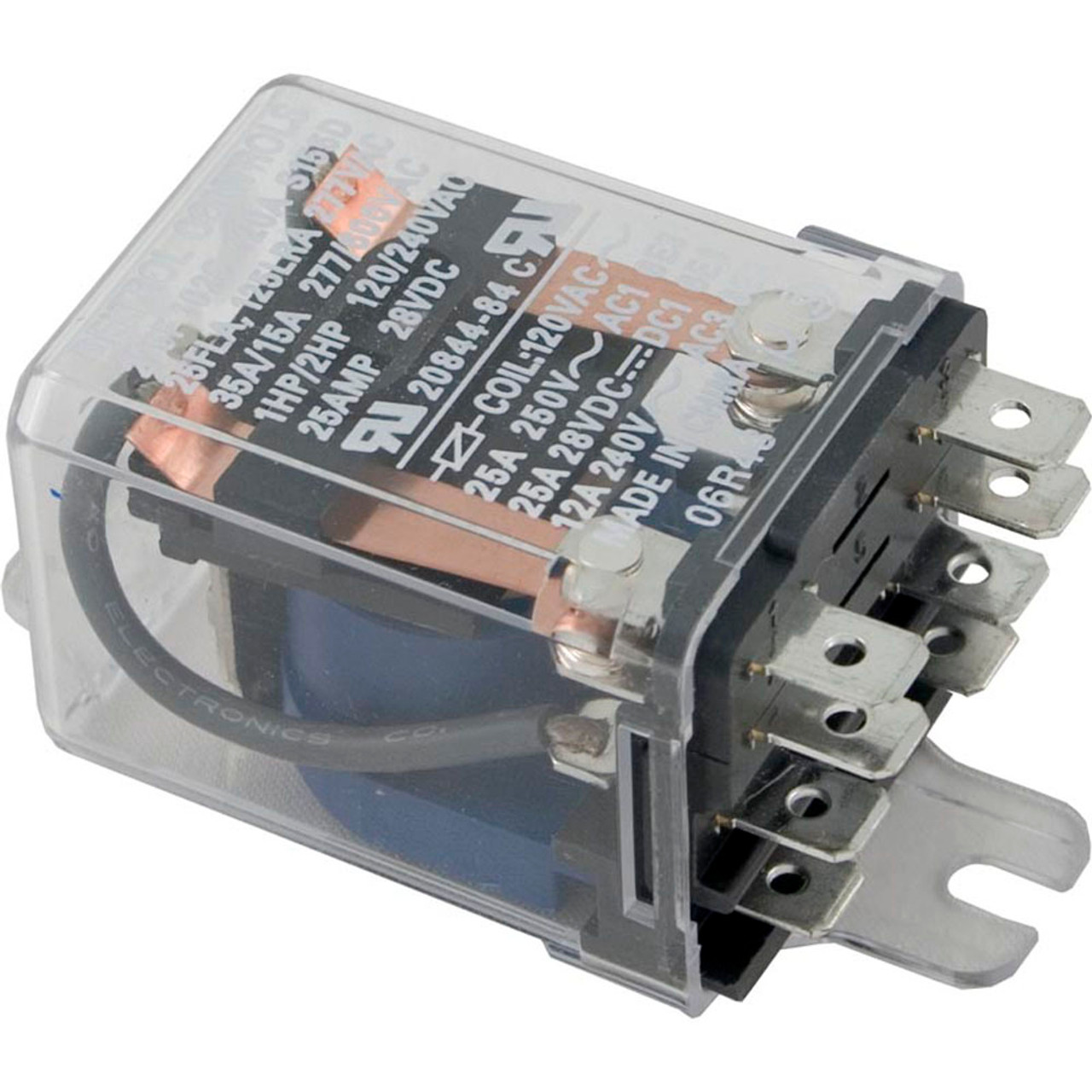 General Purpose Relays Ac POWER RELAY POTTER & BRUMFIELD DPST 25 A ...