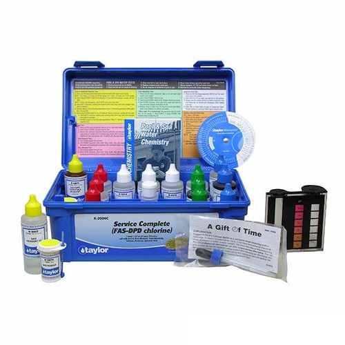 2OZ Complete FAS-DPD CL Professional Test Kit Taylor Technologies K-2006C