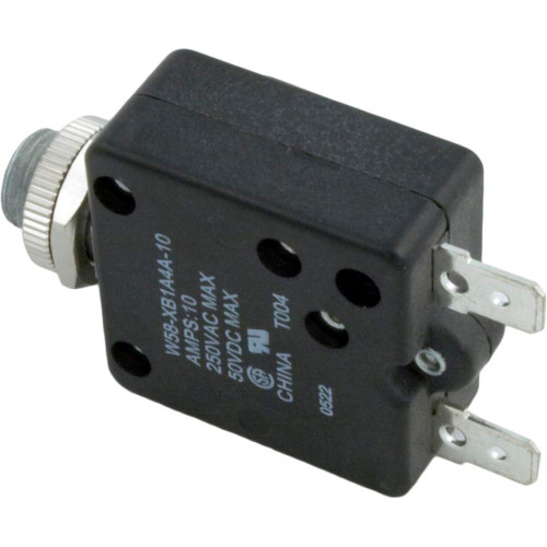 Circuit Breaker, Panel Mount, 10A, 115v