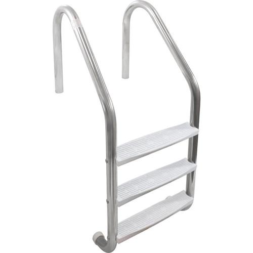 Ladder, Inter-Fab 3 Step Econ, w/High Impact Plastic Tread, Wht