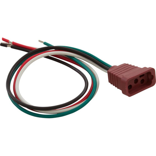 Receptacle, H-Q, Pump 2, 2 Speed, Molded, Brown, 14/4