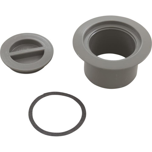 Volleyball Pole Holder Flange & Plug Assembly-Gray