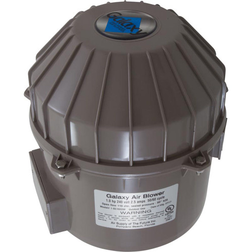 Blower, Air Supply Galaxy Pro, 1.0hp, 230v, 2.5A, Hardwire