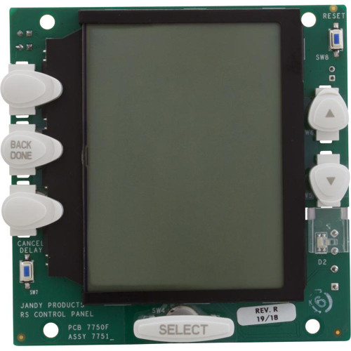 PCB Assembly, Zodiac Jandy AquaLink OneTouch, LCD, Black Buttons