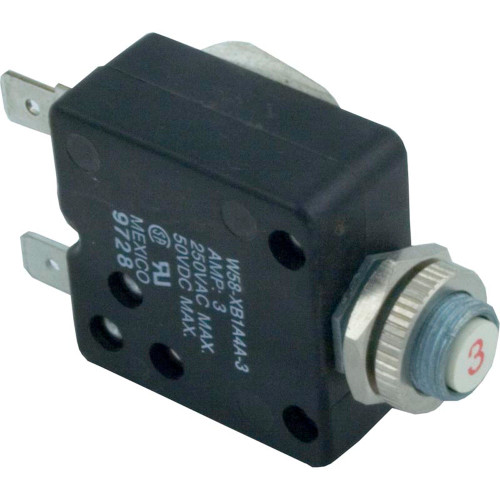 Circuit Breaker, Panel Mount, 3A, 115v