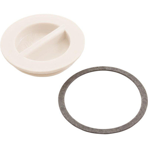 "Flush Plug 1 1/2""With Gasket - White"