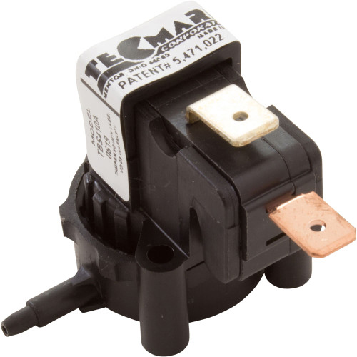 Air Switch, Tecmark, SPNO, 25 Amp, Latching, Side Spout