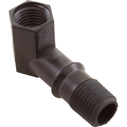 """90 Elbow, Little Giant, Outlet, 1/4""""fpt x 1/4""""mpt, Black"""