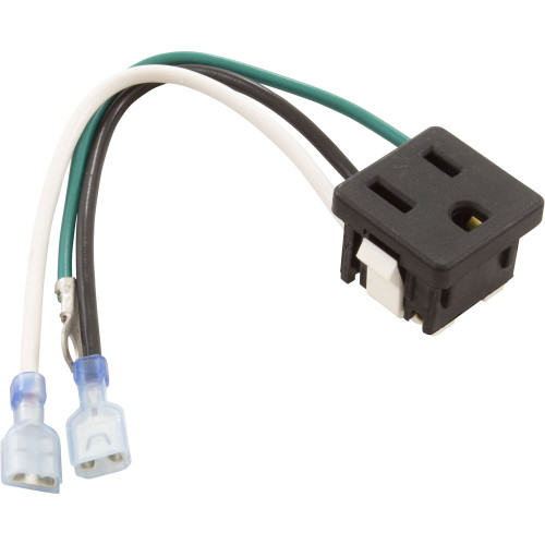 Outlet, 120Vac/15A, Snap-In