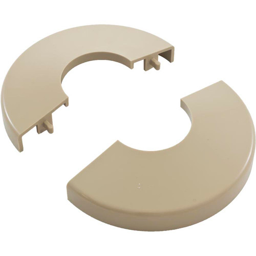 Pool Ladder Escutcheon, Clip On, Tan
