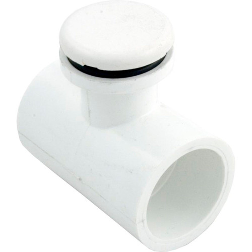 """Air Injector, WW, Low Profile, 1""""s x 1""""s, Tee Style, White"""