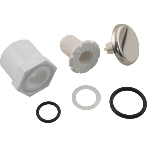 """Air Injector, WW, Low Profile, 1""""s/3/4""""spg, Adapter Style, SS"""
