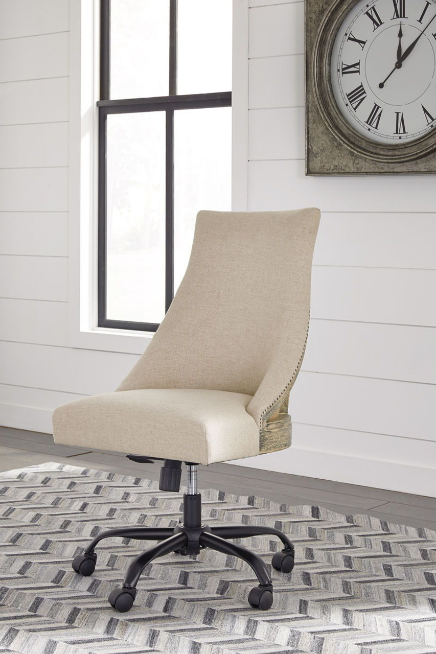 The Office Chair Program Linen Home Office Swivel Desk Chair Available At Bitney S Furniture And Mattress Company Serving Kalispell Mt