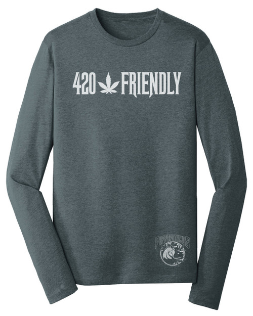 420 Friendly  Rebel Jersey Long Sleeve Tee