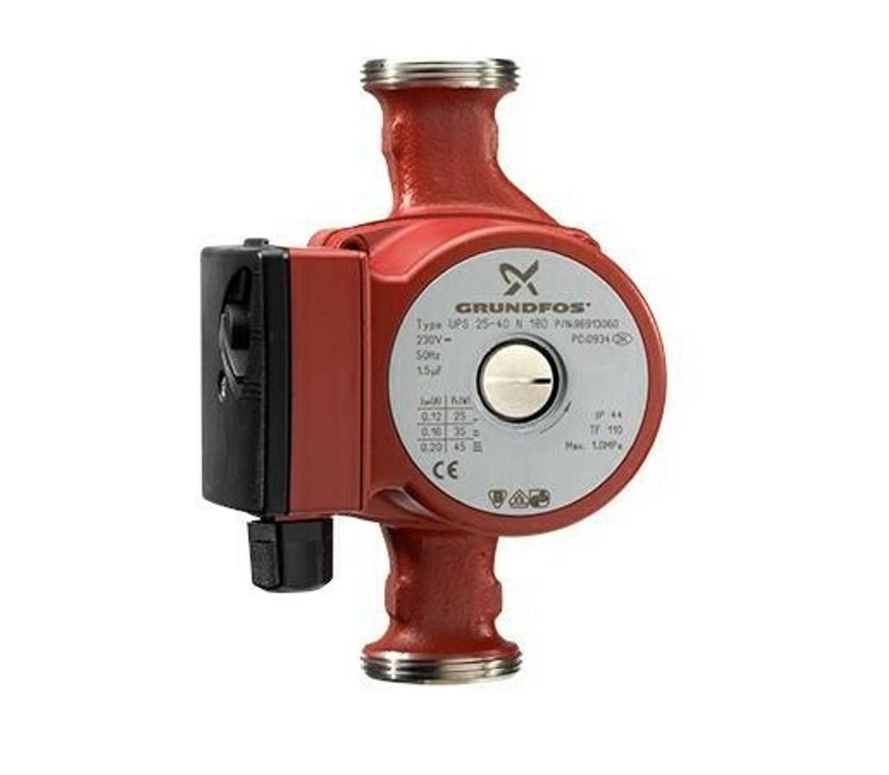 Grundfos UPS 25-60 N 180 circulator pump