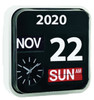 Linear Flip Calendar and Clock