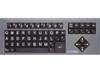 Big Keys Keyboard - Black Keys w/White Letters