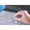 Laptop Keyboard Stickers - Black On Yellow