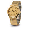 Extra Large Quartz Braille Watch - Gold