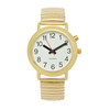 One Button Watch, Male Voice, Gold band LADIES