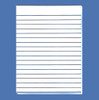 Bold Line White Paper, 1/2 inch lines, Double Sided